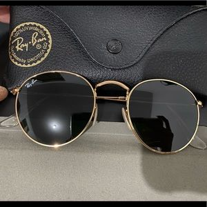 Ray-Ban Round Metal RB3447 Gold-Metal-Green Lenses